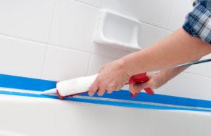 silicone sealing old bath